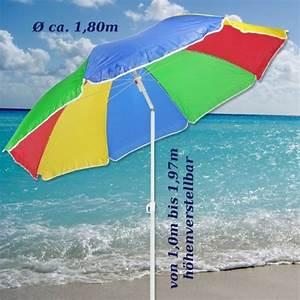 Bodenhülsen Zum Eindrehen : sonnenschirm 180cm strandschirm balkonschirm schirm regenbogen regenbogenfarben potibe ~ Orissabook.com Haus und Dekorationen