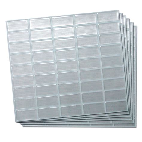 adhesive wall tile stainless  pack rona