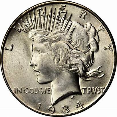 Dollar Silver Peace 1934 Value Coins Sold
