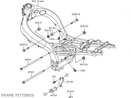 kawasaki 1998 d1 zx900 parts list partsmanual partsfiche