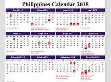Philippines 2018 Holidays Calendar Calendar 2018