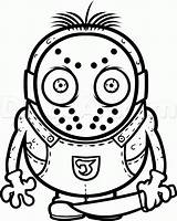 Jason Drawing Voorhees Draw Minion Step Mask Svg Minions Silhouette Characters Getdrawings Pop June sketch template