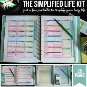organizing cleaning and home management printables With life documents organizer