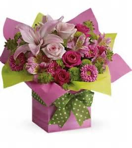 fruit arrangements nj teleflora 39 s pretty pink present t019 1a in raritan nj