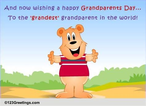 For The 'grandest' Grandparent! Free Grandparents Day