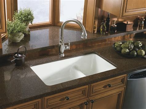 kitchen how to install undermount sink at modern kitchen