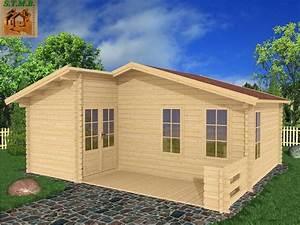 Chalet Bois Pas Cher : chalet 33 m2 en bois habitable de loisirs en kit avec terrasse ~ Nature-et-papiers.com Idées de Décoration