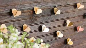 DIY Paper Heart Garland - Wedding Photo Booth Backdrop