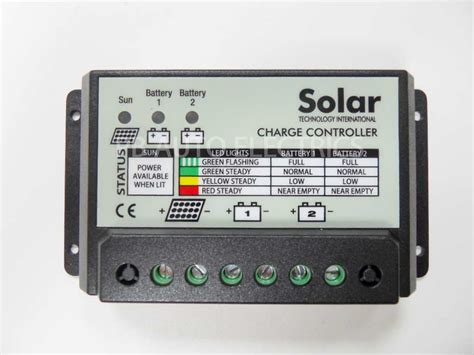 Dual Battery Solar Charge Controller For