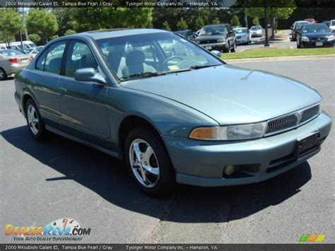 2000 Mitsubishi Galant ES Tampa Blue Pearl / Gray Photo #6 ...