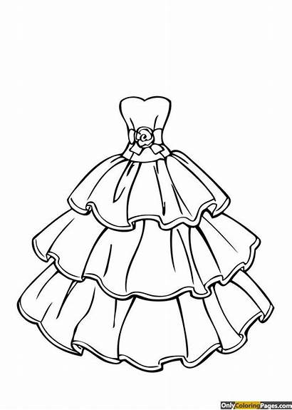 Coloring Pages Clothes Barbie Sheets Printable Adults