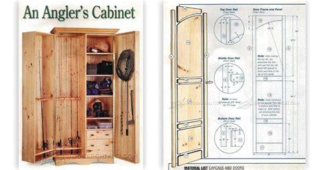 fishing rod cabinet plans woodarchivist