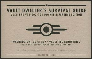 Vault Dweller U0026 39 S Survival Guide  Pocket Reference Edition