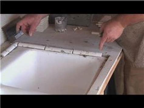 undermount bathroom sink with tile kitchen tile basics installing tile around a kitchen