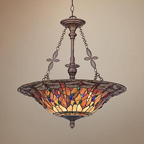 Stained Glass Bathroom Light Fixtures by Quoizel Dragonfly 22 Quot Wide Style Pendant Light