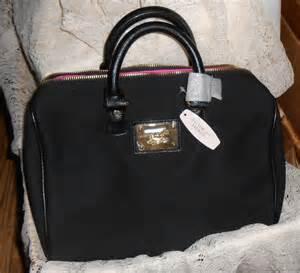 victoria secret black pink lining canvas bag classic