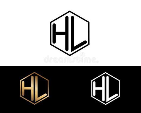 hw letters linked  hexagon shape logo stock vector illustration  color cuhexagon