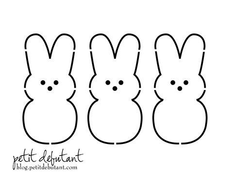 bunny template petit debutant bunny peeps shirt stencil