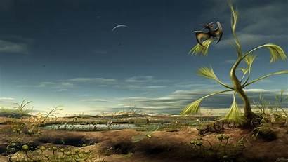 Landscape Alien Wallpapers Landscapes Surreal Birds Cgi