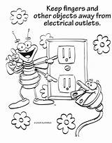 Safety Electricity Coloring Pages Electrical Drawing Save Kitchen Fire Worksheets Drawings Printable Louie Object Outlet Designlooter Getdrawings Hidden 710px 01kb sketch template