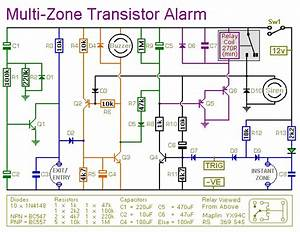 Multi-zone Transistor-based Intruder Alarm