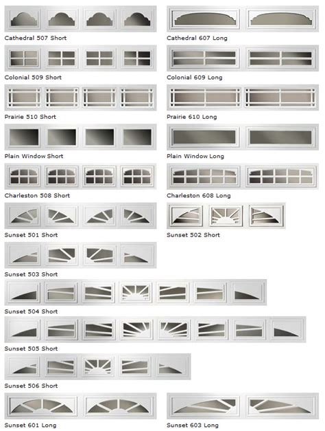 Garage Door Style Windows by Window Options Day And Nite Doors Residential