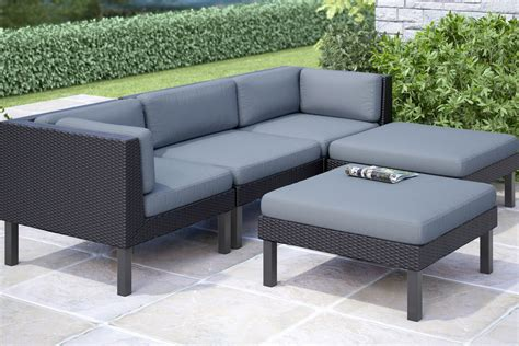 outdoor sofa with chaise oakland 5 piece sofa with chaise lounge patio set at
