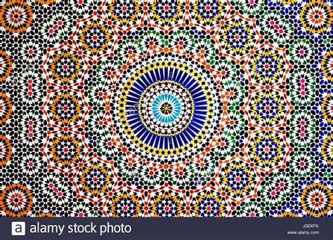 The Colourful Geometric Patterns Of An Islamic Mosaic