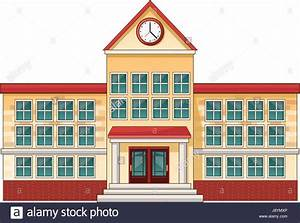 cartoon school building cartoon education Stock Vector Art ...