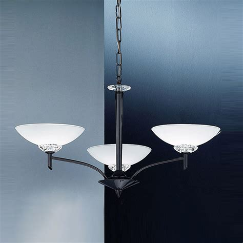 franklite fl2099 3 fizz 3 light black chrome ceiling fitting