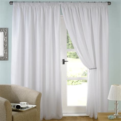 white lined voile pencil pleat curtains tony s textiles