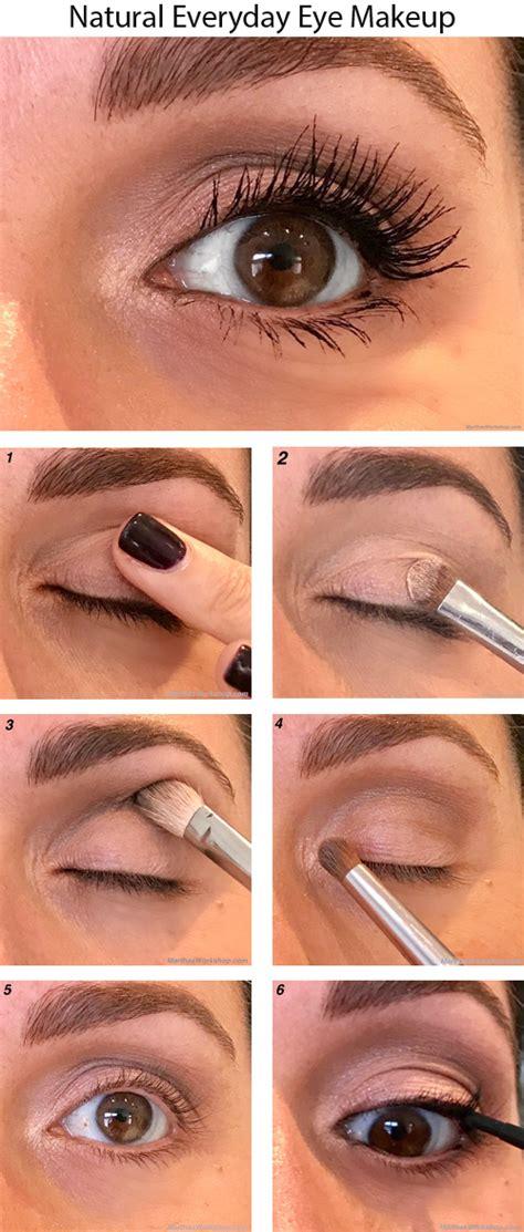 everyday natural eye makeup    easy steps marthas workshop