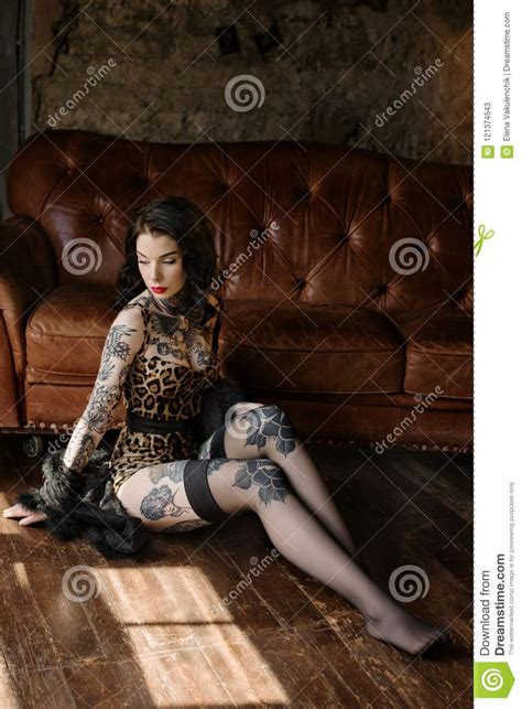 Beautiful Girl Dressed At Pin up Style Stock Image Image