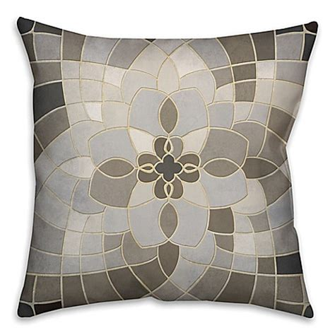 bed bath and beyond sofa pillows greige mosaic square throw pillow in grey beige bed bath