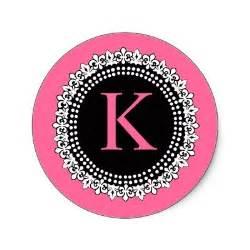 Black and Pink Letter K