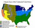 Climate Zones of the Continental United States