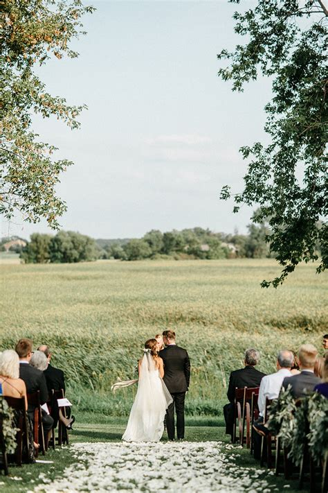romantic farm wedding in minnesota real weddings