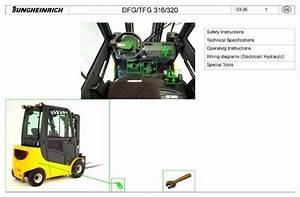 Free Jungheinrich Fork Truck Type Dfg  Tfg  16s  20s  25s  30s