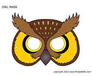 free pattern printables printable owl mask