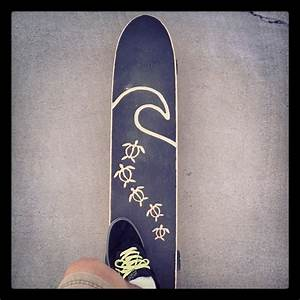 longboard with hand cut grip tape design. | s k a t e ...