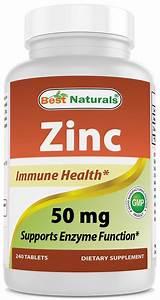 Best Naturals Zinc 50 Mg 240 Tablets   Fresh Health Nutritions
