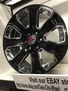 cadillac escalade esv 2003 20 inch gloss black chrome 2015 gm oe ck 164 replica chevrolet silverado wheels chevrolet