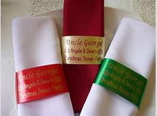 Napkin Ring Personalised Ribbon Place Setting Name for