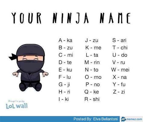 Meme Names - your ninja name memes com