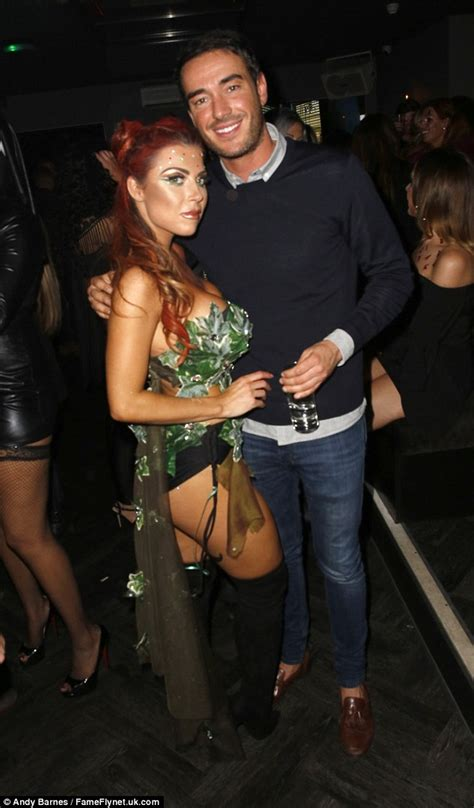 ex towie star abi clarke channels poison ivy in barely