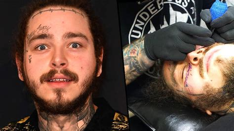 Post Malone Got A Huge New Face Tattoo And Everyone Is
