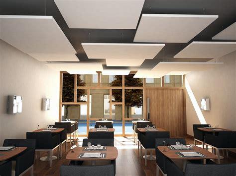 staff cuisine plafond acoustic ceiling clouds rockfon eclipse by rockfon