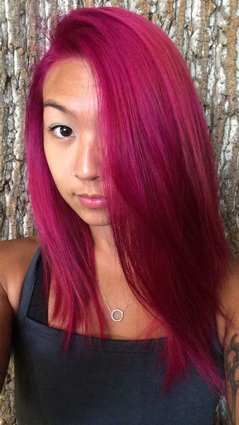fuschia magenta hair color hair makeup magenta