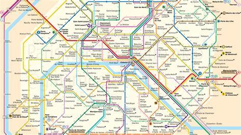 Carte Du Métro De Paris Avec Le Temps De Marche