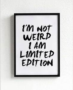 Weird Print, Wall Art, Typography Poster, Black and White ...